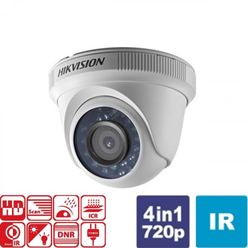 Κάμερα Dome IR 3.6mm IP66 Turbo-HD 720p DS-2CE56C0T-IRF Hikvision