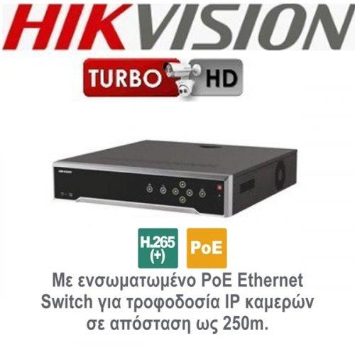 NVR 16 IP καναλιών 4K DS-7716NI-I4/16P Hikvision