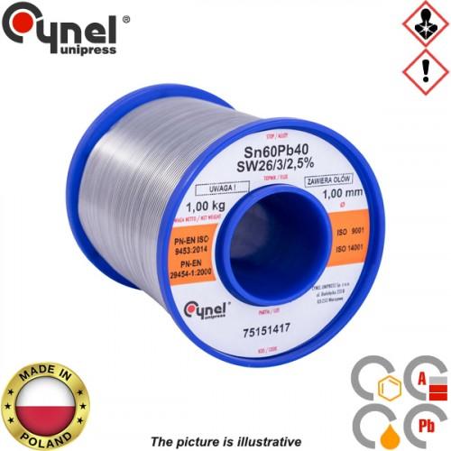 Κόλληση 1000gr 60/40 1mm S-SnPb40 Cynel