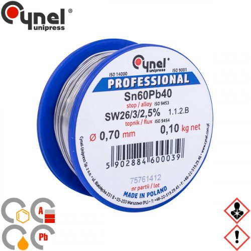 Κόλληση 100gr 60/40 0,7mm S-SnPb40 Cynel