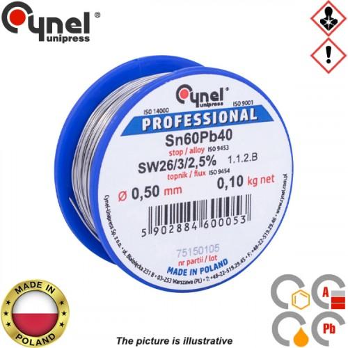 Κόλληση 100gr 60/40 0,50mm S-SnPb40 Cynel