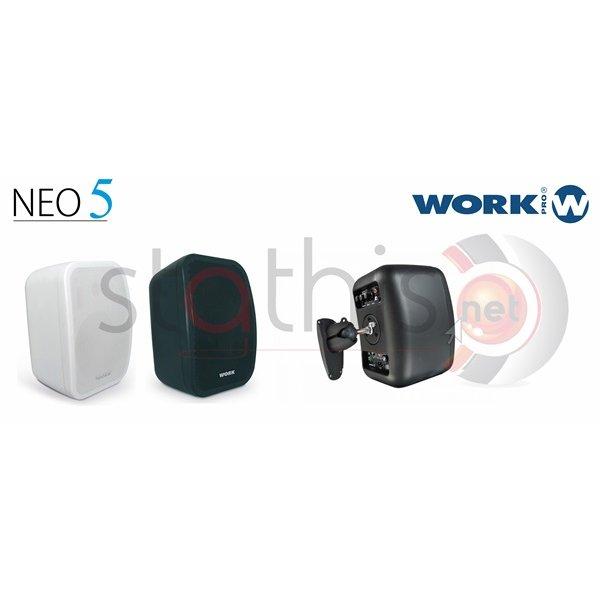 Ηχείο 2 Δρόμων 16W/100V-40W/8Ω, 5 1/4'' +0,5''TW 89dB NEO 5 Line Μαύρο Work