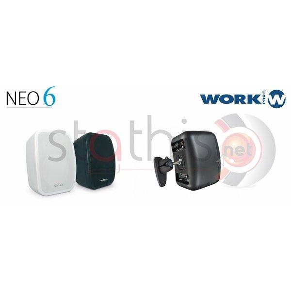Ηχείο 2 δρόμων 32W/100V-60W/8Ω,6,5''+1''TW 92dB NEO 6 Line Μαύρο Work