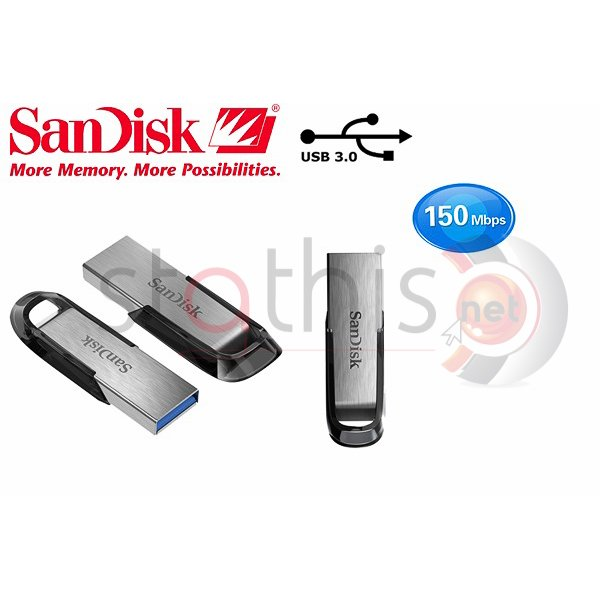 USB flash drive ultra flair 3.0 SDCZ73-064G-G46 64GB ασημί SanDisk