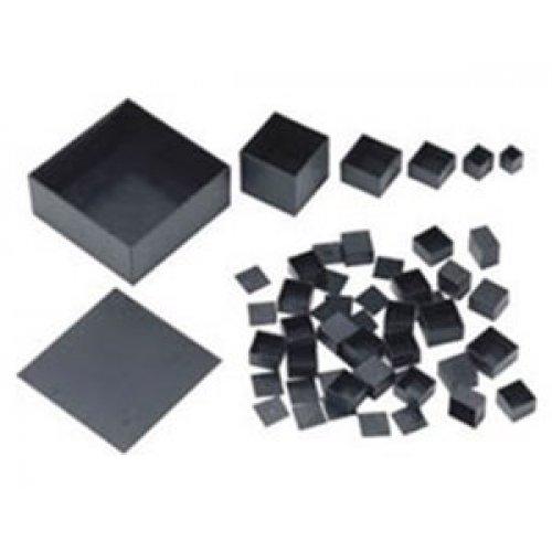 Κουτί πλαστικό IP65 60x60x50mm μαύρο G606050B+G606050L Gainta