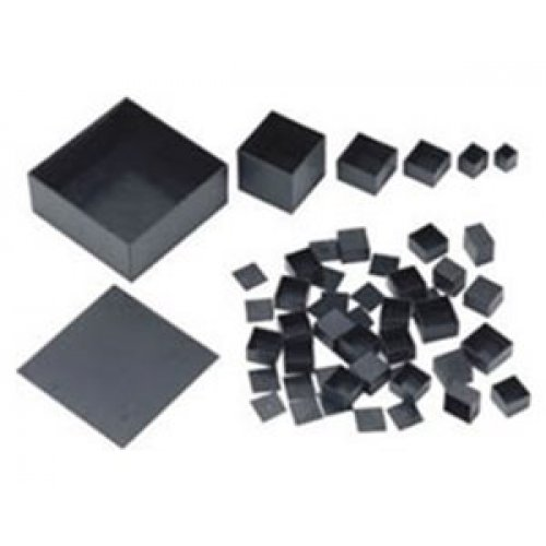 Κουτί πλαστικό IP65 100x50x25mm μαύρο G1005025B+G1005025L Gainta
