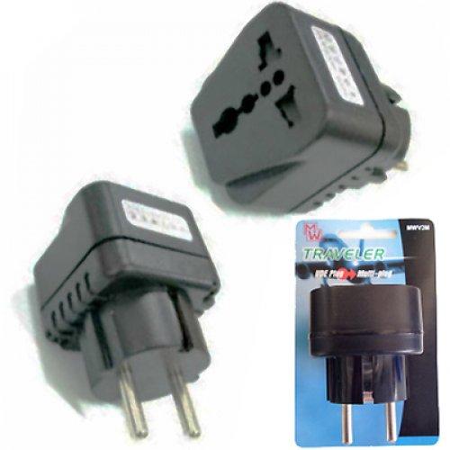 Αντάπτορας 1 x schuko plug -> 1 x universal plug out MW-V2M Minwa