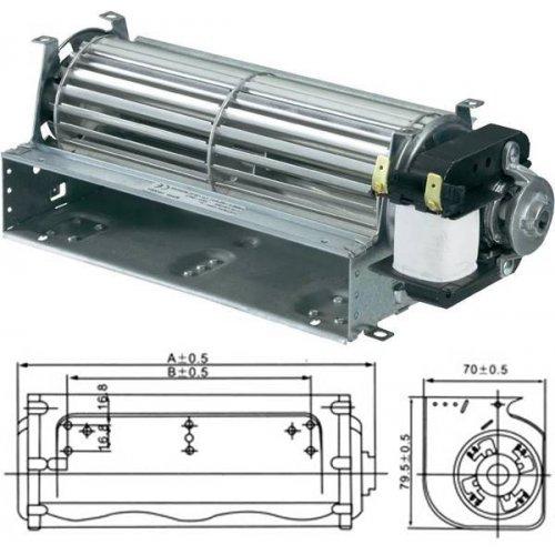 Ανεμιστήρας Ψυγείου Φτερωτός 230V AC 25/46W 240mm RQA61.240 TIDAR