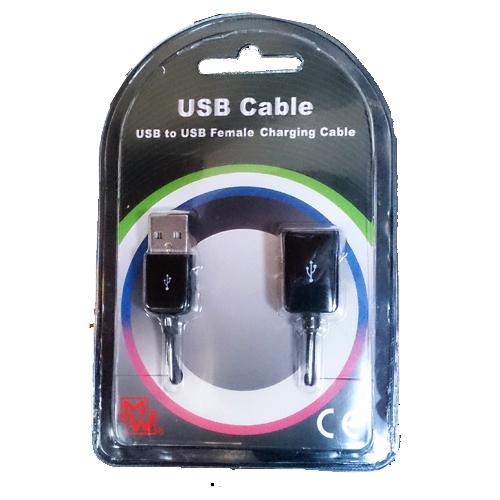 Καλώδιο προέκταση USB 2.0 A αρσενικό -> A θηλυκό 1.2m MW-CB11 Minwa