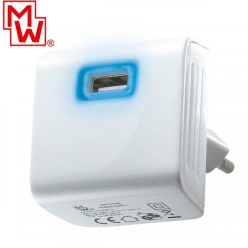 Τροφοδοτικό 230V in -> 1 x USB A Out 5V 2.4A MW-USB3U-2 Minwa