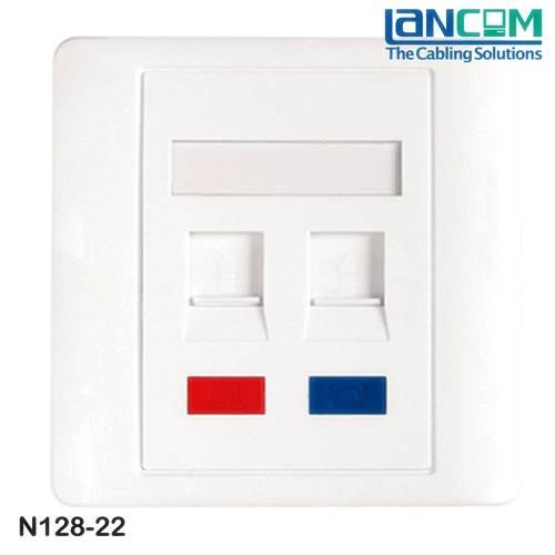 Πρόσοψη πρίζας δικτύου 2P 86x86mm color label N128-22 Lancom