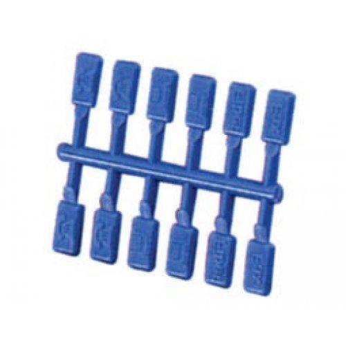 Πινακίδα σήμανσης πρίζας πλαστική μπλε 7PK317 T/PRO