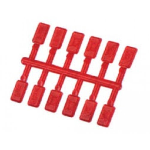 Πινακίδα σήμανσης πρίζας πλαστική κόκκινη 7PK317 T/PRO