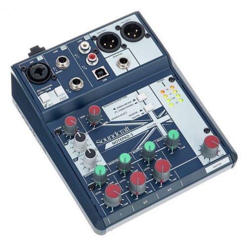 Μίκτης ήχου 5 καναλιών 1 mono/line 2 stereo NOTEPAD-5 Soundcraft