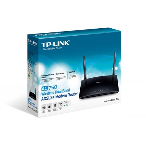Modem Router Ασύρματο Dual Band ADSL2 Archer D20 TP-LINK