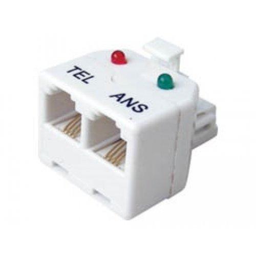 Αντάπτορας τηλεφώνου αρσενικό/θηλυκό 6P4C X2 (TEL/ANS) SS336