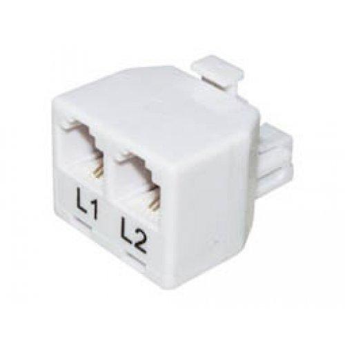 Αντάπτορας τηλεφώνου αρσενικός 6P2C X2 T201-02 (303) Lancom