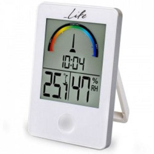 Ψηφιακό θερμόμετρο-υγρόμετρο με ρολόι WES-101 LIFE