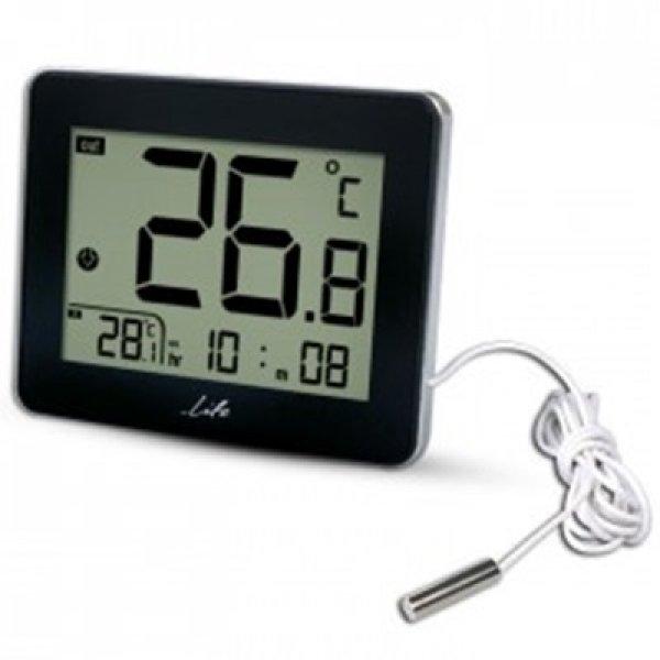 Ψηφιακό θερμόμετρο εσωτερικής-εξωτερικής με ρολόι WES-201 LIFE