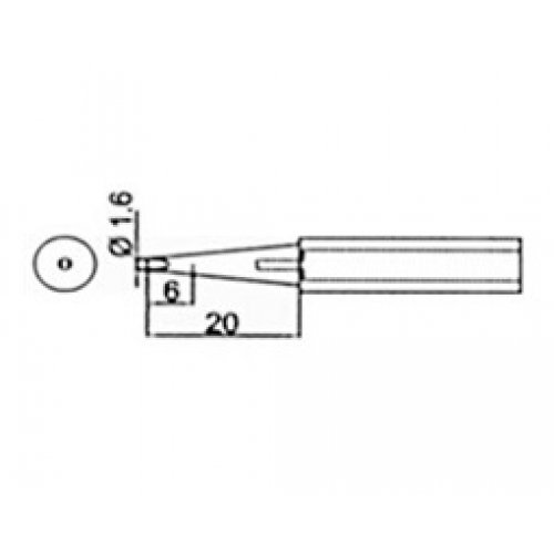 Μύτη κολλητηριού 1,6mm για το κολλητήρι SS218-1.6D Proskit