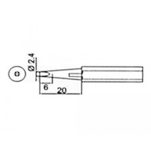 Μύτη κολλητηριού 2,4mm για το κολλητήρι SS218-2.4D Proskit