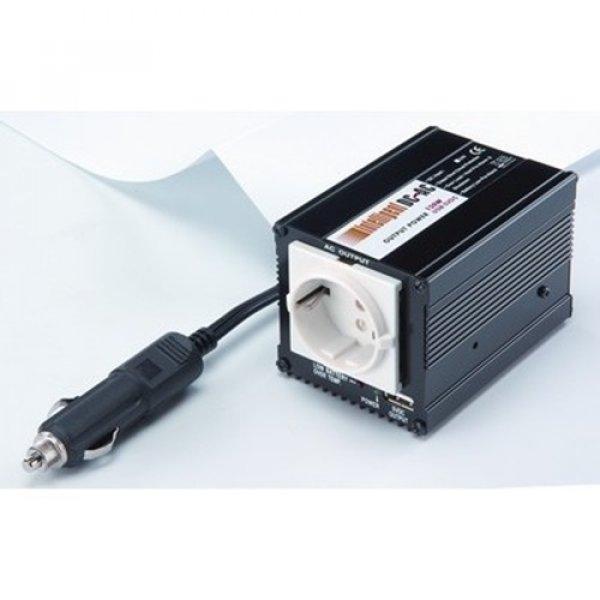 Inverter 12V -> 230V 150W + USB τροποποιημένο ημίτονο SPS-150-12USB Linkhmap