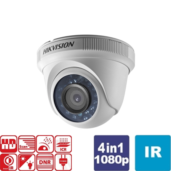 Κάμερα Dome IR 2.8mm IP66 Turbo-HD 1080p DS-2CE56D0T-IRF Hikvision