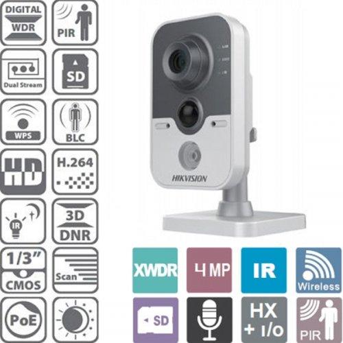 Κάμερα Cube ασύρματη-ενσύρματη 2.8mm IP 4MP PIR DS-2CD2442FWD-IW Hikvision