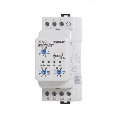 Επιτηρητής διαδοχής φάσης 380V AC τριφασικός ( 3Φ ) PT538 Power Electronics Control