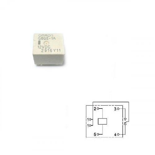 Relay mini 12V DC 10A DC SPST 2pins G8QE-1A OMRON