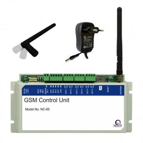 Ελεγκτής τηλεχειριζόμενος GSM 4 εισόδων 6 εξόδων NC-65 NissoY