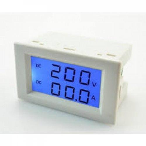 Βολτόμετρο Ψηφιακό 0-50V DC / Αμπερόμετρο 0-50A DC 70x40x39mm FC4 Focan
