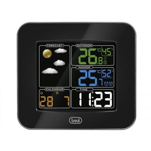 Μετεωρολογικός σταθμός με θερμόμετρο και ρολόι ME 3165 RC TREVI