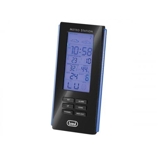 Μετεωρολογικός σταθμός με θερμόμετρο καί ρολόι ME 3108 RC TREVI