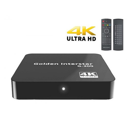 Media Player 4k H.265 Android Box G-200 Golden Interstar