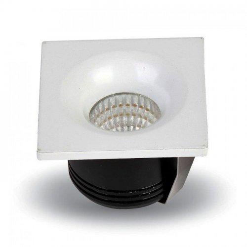 Led downlight 3W 240V 120° day light 6400K τετράγωνο 5110 VT-1123 V-TAC