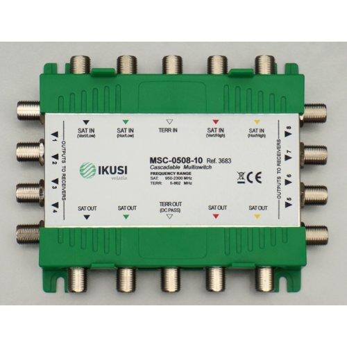 Πολυδιακόπτης cascadable 5x12 εξόδων MSC-0512-10 IKUSI