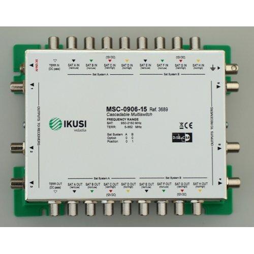 Πολυδιακόπτης cascadable 9x6 εξόδων MSC-0906-15 IKUSI