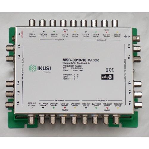 Πολυδιακόπτης cascadable 9x10 εξόδων MSC-0910-10 IKUSI