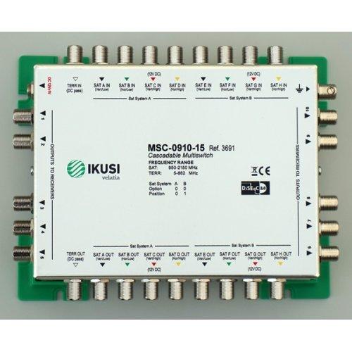Πολυδιακόπτης cascadable 9x10 εξόδων MSC-0910-15 IKUSI