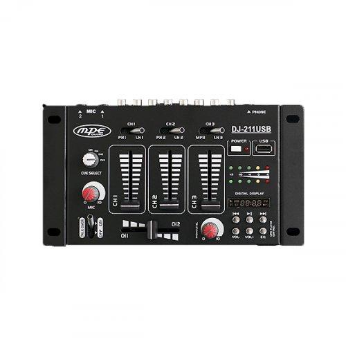 Μίκτης ήχου 2 καναλιών DJ-211 USB