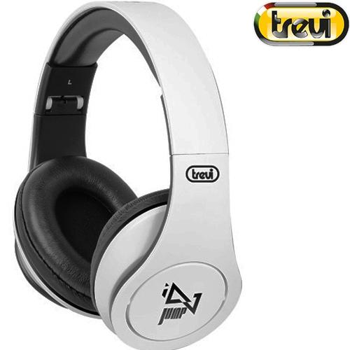 Ακουστικά Στερεοφωνικά Handsfree με Μικρόφωνο Λευκό Dj 677 M Trevi