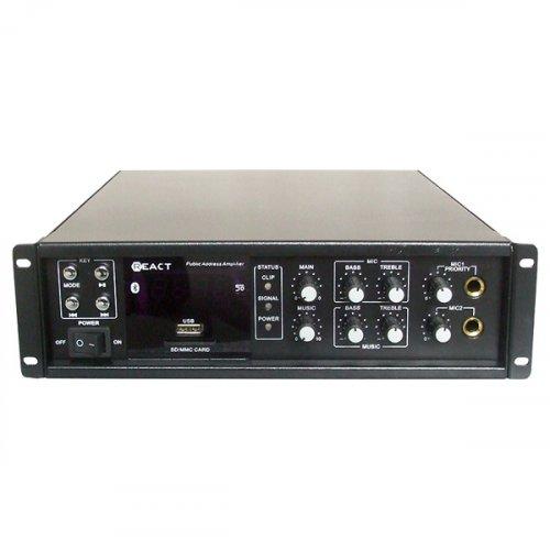 Ενισχυτής μικροφωνικός 60W 100V 2xMIC/USB/FM PA-50 REACT