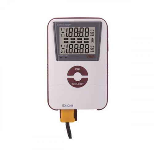 Καταγραφέας θερμοκρασίας και υγρασίας με usb VA600-NH V&A