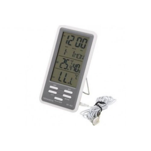 Θερμόμετρο - υγρόμετρο ψηφιακό με αισθητήρα και ξυπνητήρι DC-802