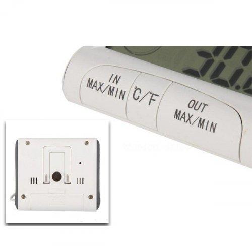 Θερμόμετρο - υγρόμετρο ψηφιακό με αισθητήρα και ξυπνητήρι DC-103