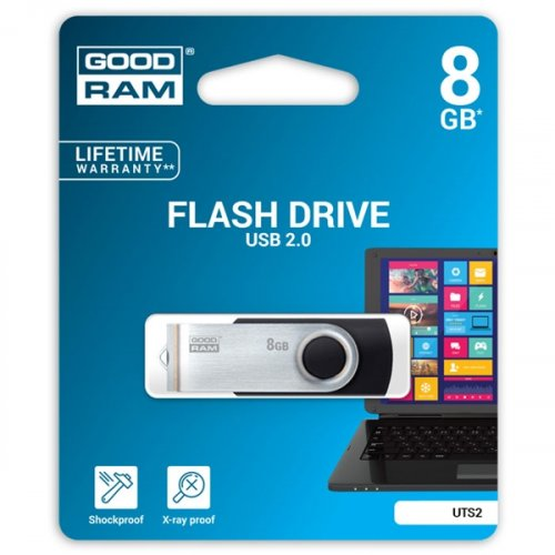 USB stick 8GB μαύρο UTS2 Goodram