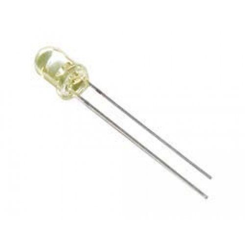 Led 3mm υψηλής φωτεινότητας διάφανο κίτρινο 900mcd 50°  L934 KGB