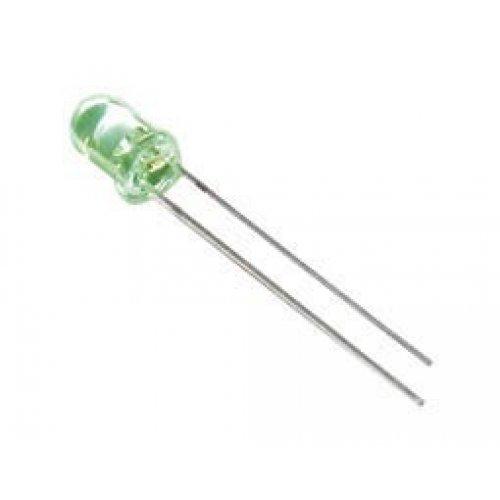 Led 3mm υψηλής φωτεινότητας διάφανο πράσινο 1000mcd 30° 3014KUGC