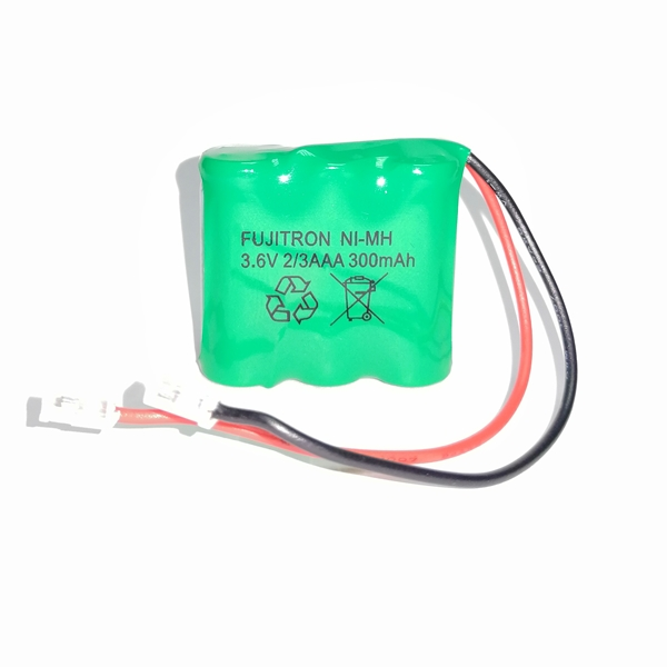 Μπαταρία pack 3 pcs x 2/3 AAA 3.6V 300mAh Ni-Mh με universal plug Code S Fujitron